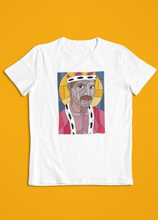 Мужская футболка белая фреди меркьюри, queen