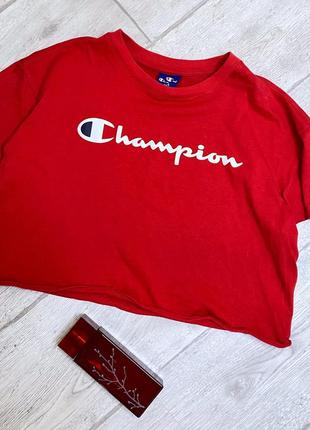 Женский  оригинальный топик оверсайз champion жіночий топік футболка