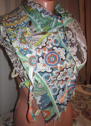 Платок, шейный платок, шарф. хлопок.1+1= 50% скидки на 3ю вещь.
