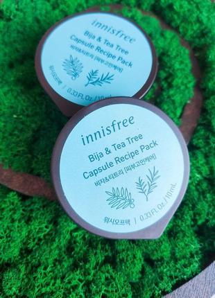 Маска для проблемной кожи innisfree capsule recipe pack bija & tea tree