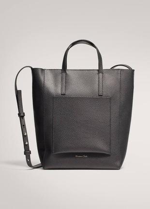 Стильная кожаная сумка massimo dutti