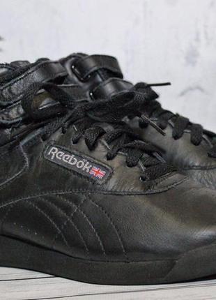 Кожаные кроссовки reebok высокие унисекс оригинал