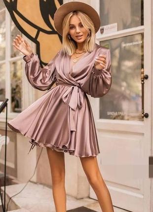 Красиве шовкове плаття 💗 4 кольори 🌈 точно як на фото!