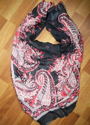 Сірий антрацит  платок хустка шарф з узором