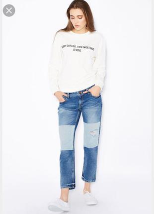 Трендовый комбинированный деним джинсы mango