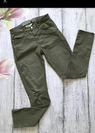 Крутые джинсы штаны брюки скинни h&m размер xs-s