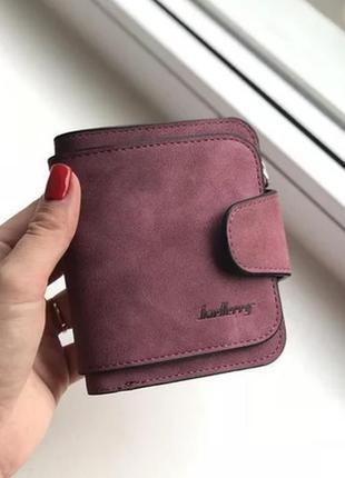 Женский замшевый кошелек гаманець замшевийbaellerry chery,бордовый