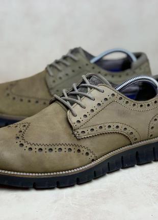 Оригинальные кожаные туфли, броги на пене mark nason (42р 27см)