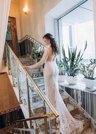 Свадебное платье бохо rara avis jane
