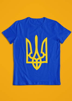 Мужская футболка синяя герб украины