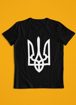 Мужская футболка черная герб украины