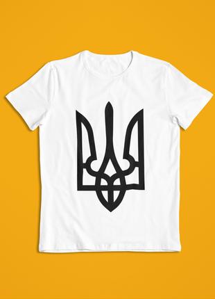 Мужская футболка белая герб украины