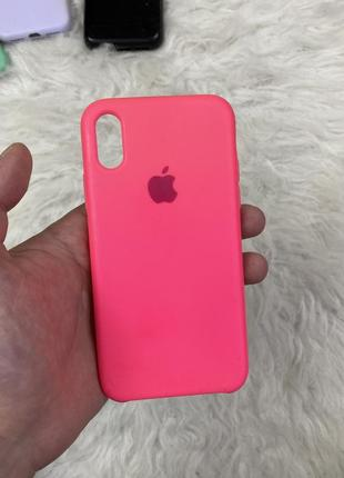 Яркий силиконовый чехол на iphone 10 x xs