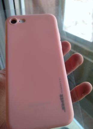 Iphone 7 чехол персиковый