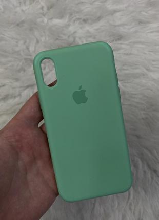 Оригинальный чехол  apple silicone case для iphone x/xs spearmint