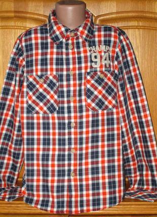 Стильная фирменная рубашка h&m, рост 158 см