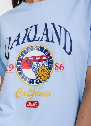 Свободная футболка с принтом oakland2 фото