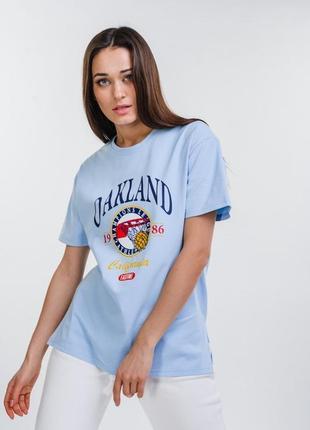 Свободная футболка с принтом oakland1 фото