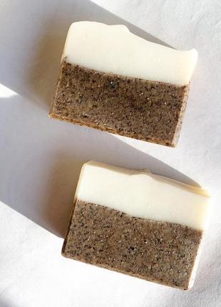 Кофейное мыло-скраб с маслом ши