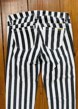 Джинсы брюки женские зауженные в полоску