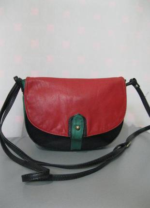 Продам фірмову шкіряну італійську сумку кросбоді cypress bag