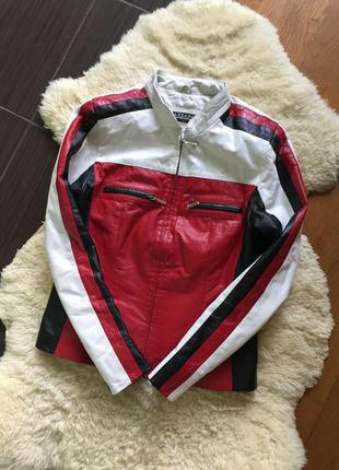 Кожаная куртка azzaro оригинал франция