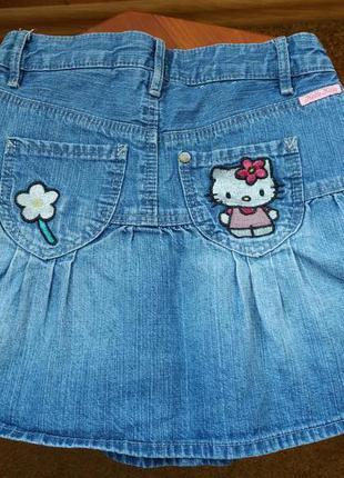 Очень классная джинсовая юбочка для девочки 4 лет