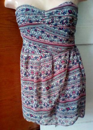 Платье бюстье в этно стиле.mango