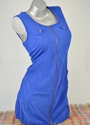 Синее платье на молнии