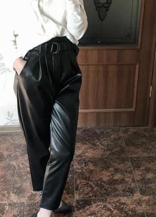 Кожаные брюки dilvin💕 носились один раз