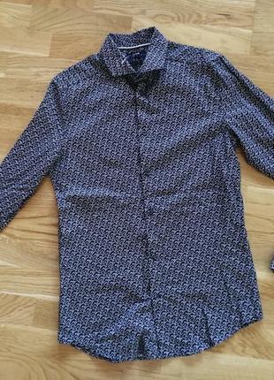 Рубашка kiabi slim fit франция размер s/m