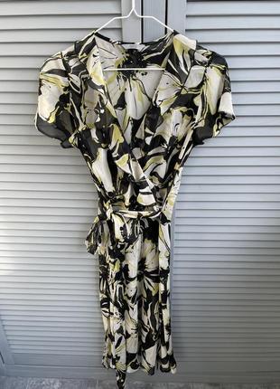 Платье  миди крупные цветы