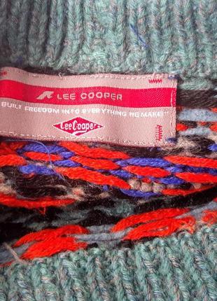 Актуальний  оверсайз свитер з геометричним мотивом leecooper3 фото