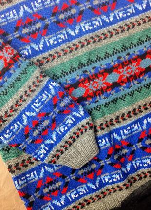 Актуальний  оверсайз свитер з геометричним мотивом leecooper2 фото