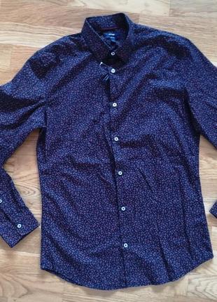 Рубашка kiabi slim fit франция размер s /m