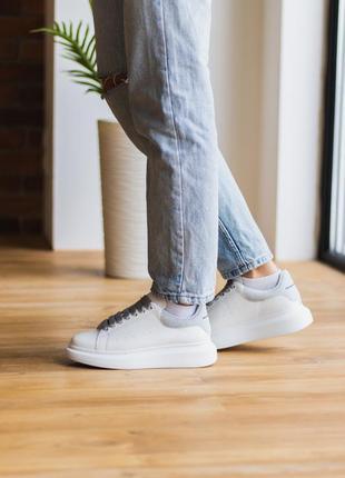 🌟несравненные женские кожаные кроссовки /gray/