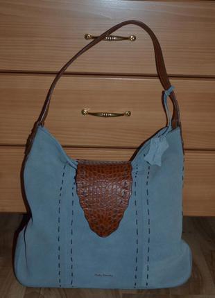 Замшевая кожаная сумка  betty barclay