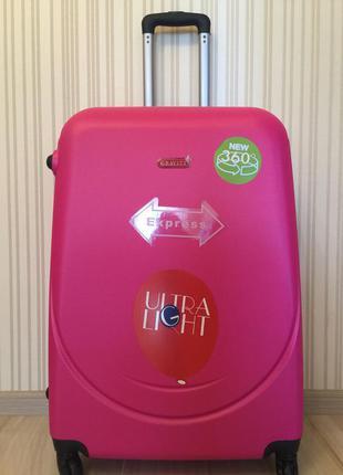 Качественный чемодан gravitt  легкий и удобный большой