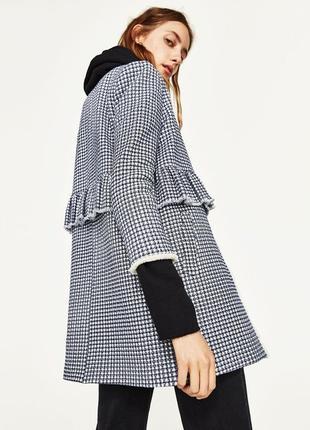 Твидовое пальто блейзер zara