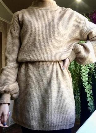 Короткое вязаное платье primark👗