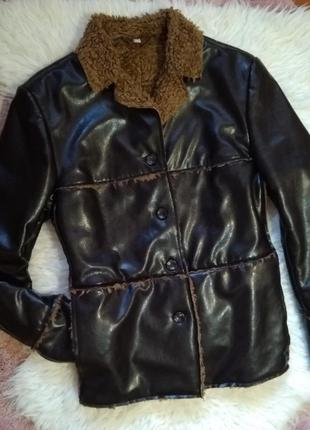 Весенне-осенняя стёганая куртка косуха на меху h&m1 фото