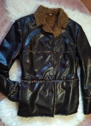 Весенне-осенняя стёганая куртка косуха на меху h&m3 фото