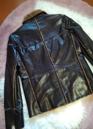 Весенне-осенняя стёганая куртка косуха на меху h&m6 фото
