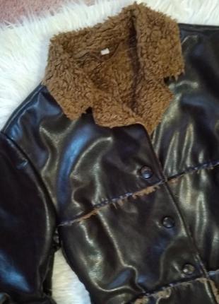 Весенне-осенняя стёганая куртка косуха на меху h&m2 фото