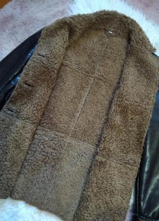 Кожаная курка кожанка на меху3 фото