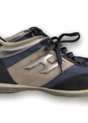 Женские замшевые кроссовки hogan
