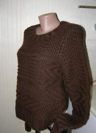 Ralph lauren теплый свитер 100%  шерсть m-l размер. оригинал