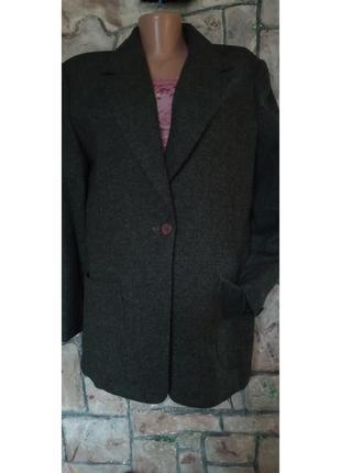 Драповый пиджак 100% шерсть