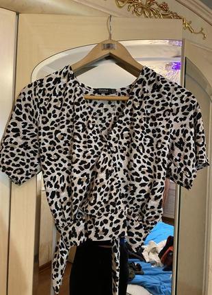 Блуза топ леопард