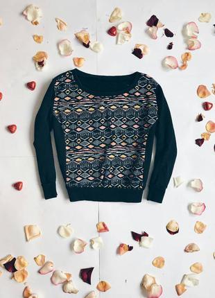 Свитшот реглан кофта свитер свитерок рука 3/4 этно этнопринт принт